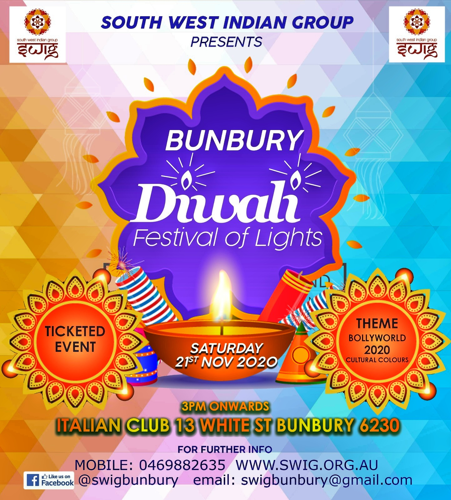 Diwali Celebration of Light 2020 - 21st Nov